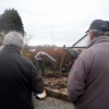 Planting tree in memory of Gary Williams, R.I.P.